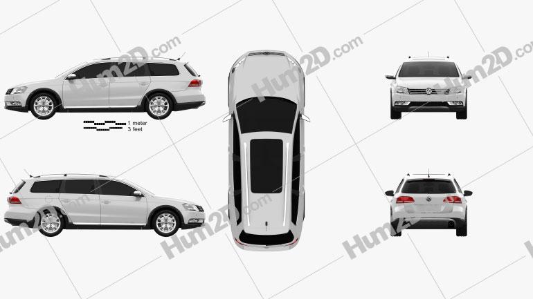 Volkswagen Passat (B7) Alltrack 2011 Clipart Image