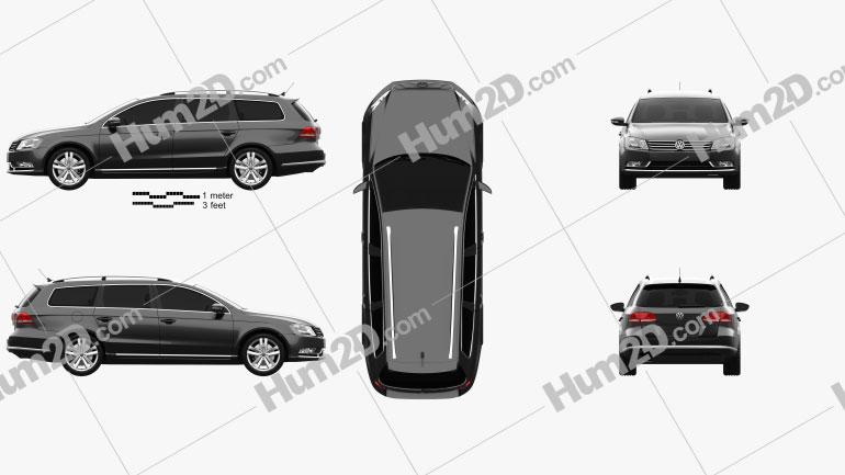 Volkswagen Passat (B7) variant 2011 car clipart
