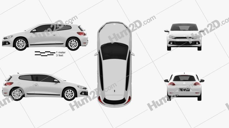 Volkswagen Scirocco 2012 Clipart Image