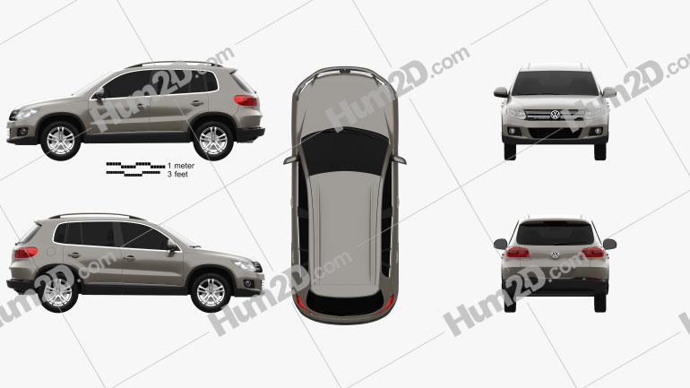 Volkswagen Tiguan Sport & Style 2012 car clipart