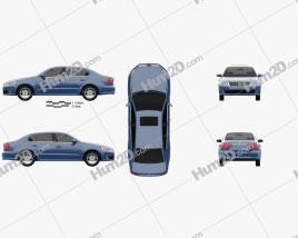 Volkswagen Lavida 2012 car clipart