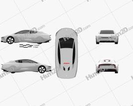 Volkswagen XL1 2013 car clipart
