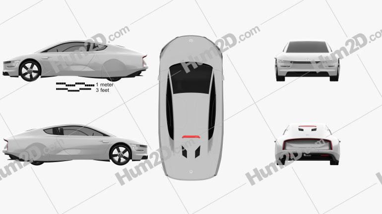 Volkswagen XL1 2013 Clipart Image