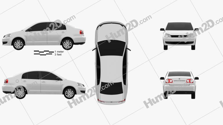 Volkswagen Polo Vivo sedan 2010 Clipart Image