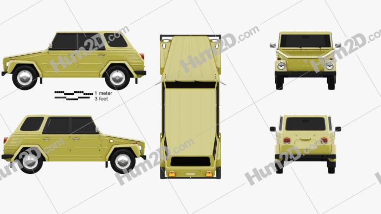 Volkswagen Type 181 1973 car clipart