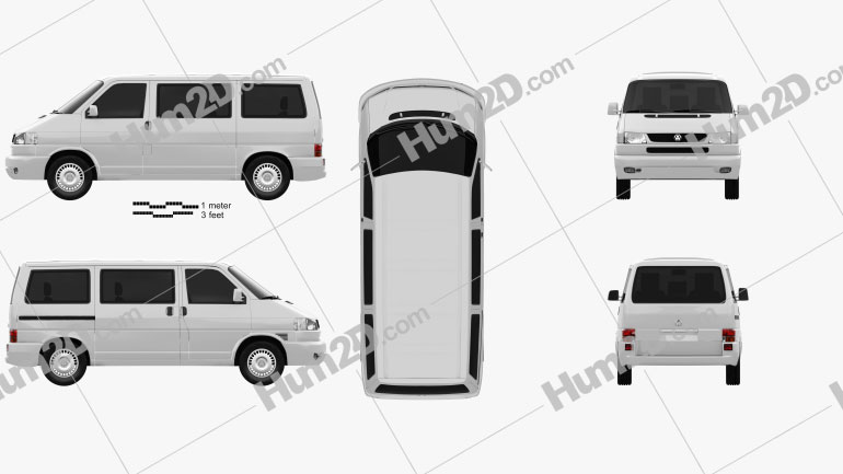 Volkswagen Transporter (T4) Caravelle 1996 clipart