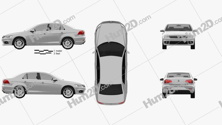 Volkswagen Bora (CN) 2012 Clipart Image