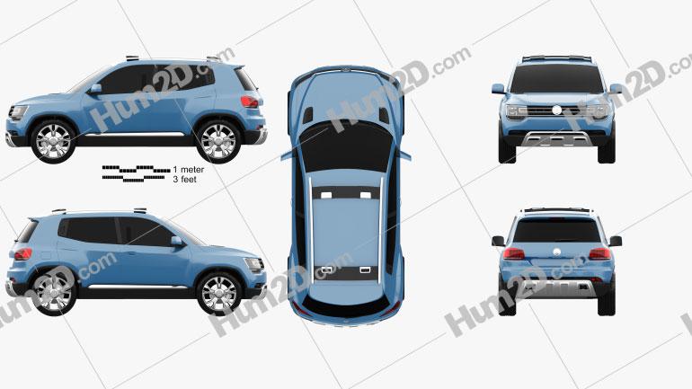 Volkswagen Taigun 2012 Clipart Image