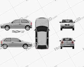 Volkswagen Gol 2003 car clipart