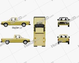 Volkswagen Caddy (Type 14) 1982 Clipart