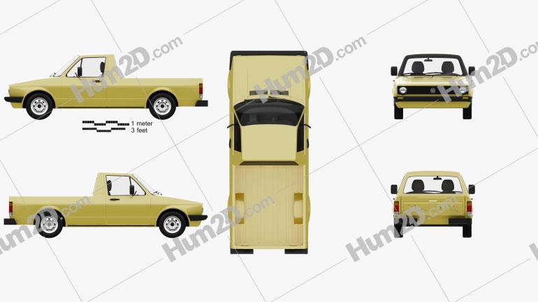 Volkswagen Caddy (Type 14) 1982 car clipart