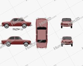 Volkswagen 1500 (Type 3) notchback 1961 Clipart
