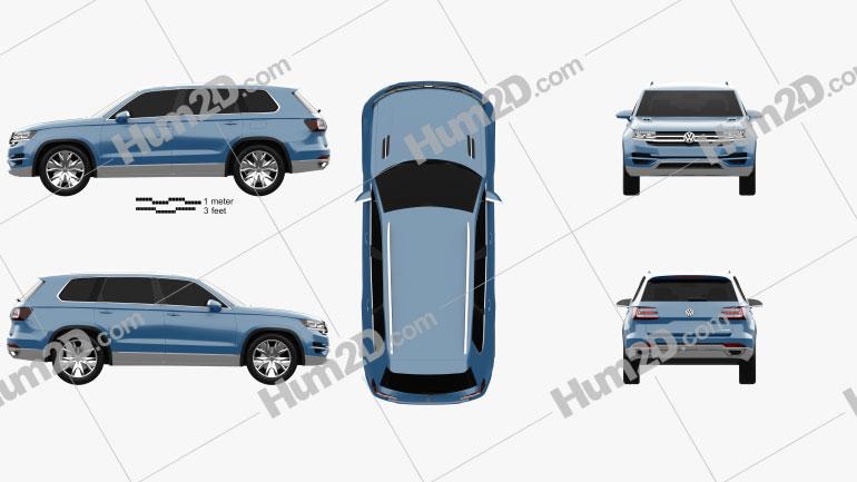 Volkswagen CrossBlue 2013 Clipart Image