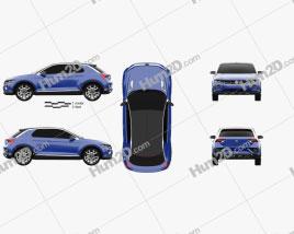 Volkswagen T-Roc 2014 car clipart