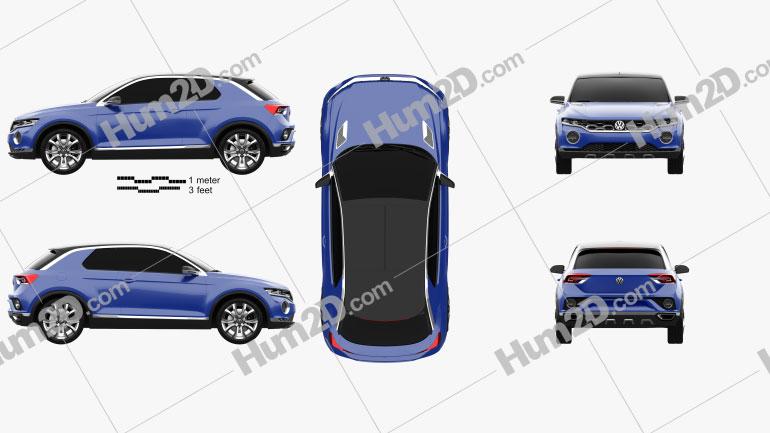 Volkswagen T-Roc 2014 Clipart Image