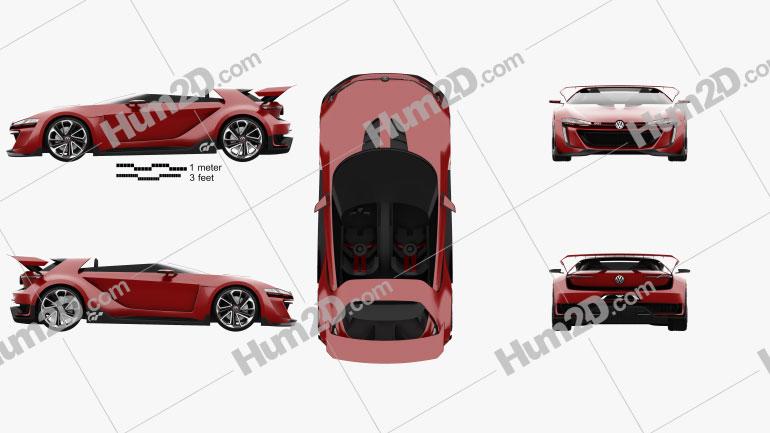 Volkswagen GTI Roadster 2014 car clipart