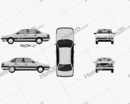 Volkswagen Passat (B3) sedan 1988