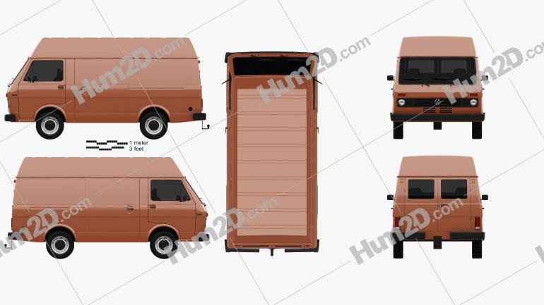 Volkswagen LT Panel Van 1975 clipart