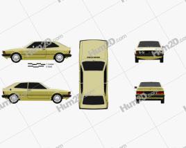 Volkswagen Scirocco 1977 car clipart