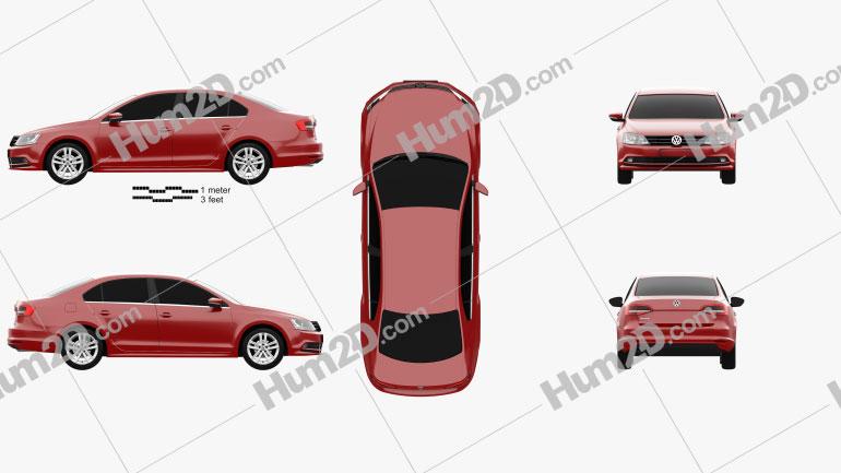 Volkswagen Jetta 2015 Clipart Image