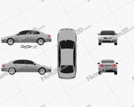 Volkswagen Passat Lingyu 2009 Clipart