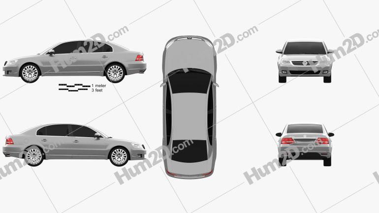 Volkswagen Passat Lingyu 2009 car clipart