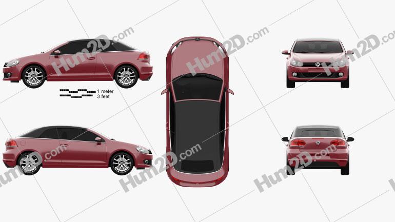 Volkswagen Golf convertible 2011 car clipart