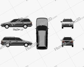 Volkswagen Passat (B3) variant 1988