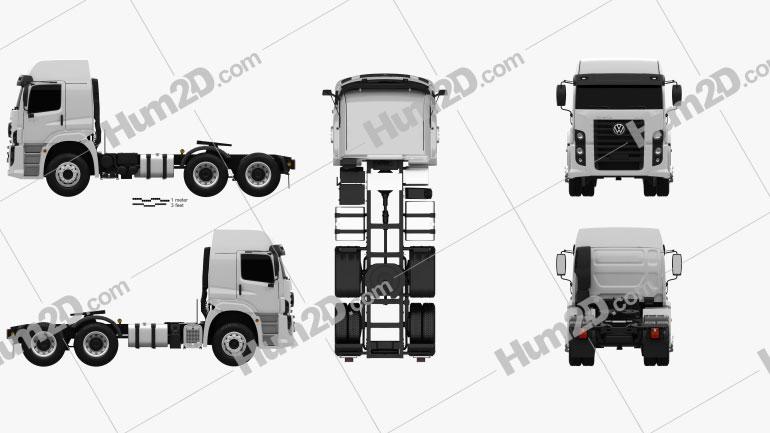 Volkswagen Constellation (25-390) Tractor Truck 3-axle 2011