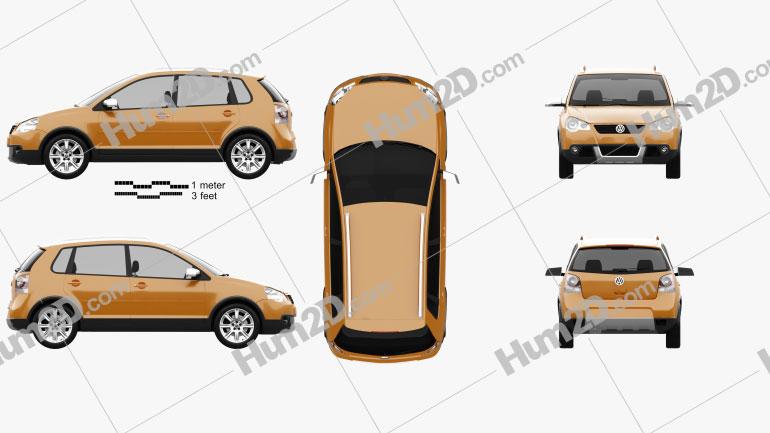 Volkswagen Cross Polo 2006 car clipart