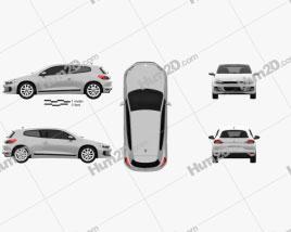 Volkswagen Scirocco 2015 Clipart