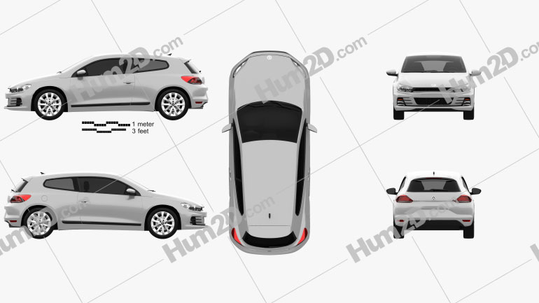 Volkswagen Scirocco 2015 car clipart