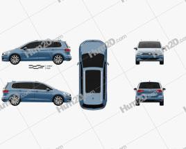 Volkswagen Touran 2015 Clipart