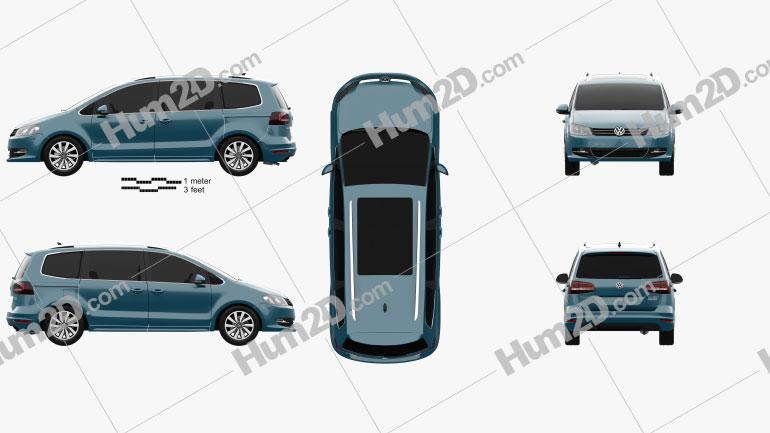 Volkswagen Sharan 2016 clipart