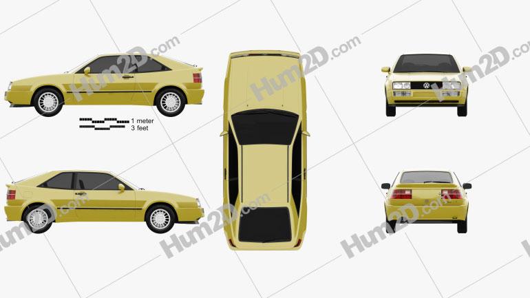 Volkswagen Corrado G60 1988 car clipart