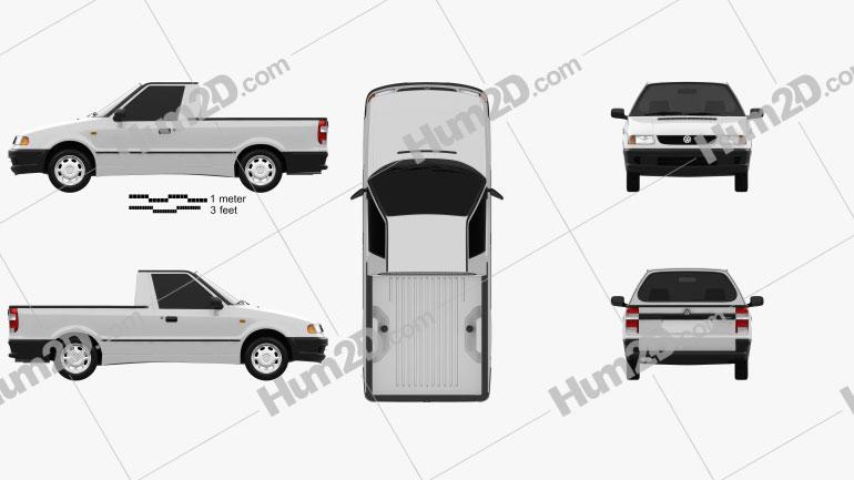 Volkswagen Caddy 1995 car clipart