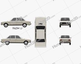 Volkswagen K70 1971 Clipart