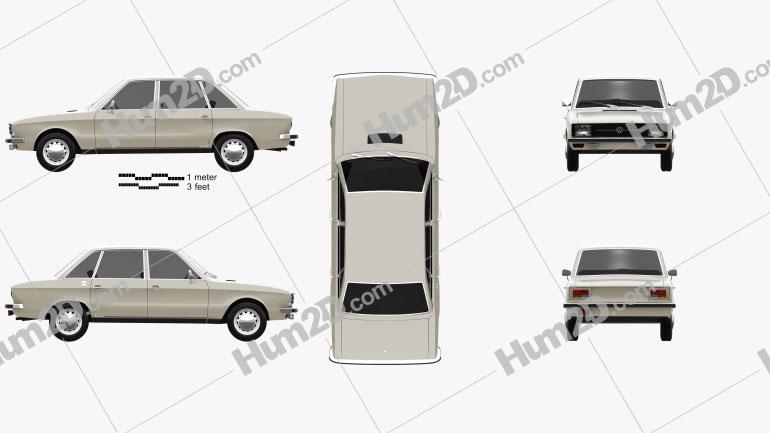 Volkswagen K70 1971 car clipart