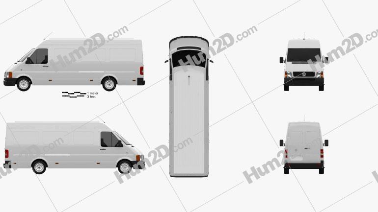 Volkswagen LT Panel Van L3H2 1996 clipart