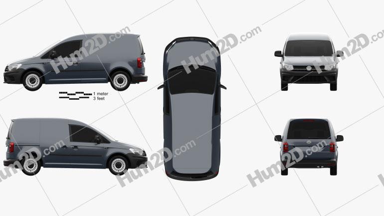 Volkswagen Caddy Panel Van 2015 clipart