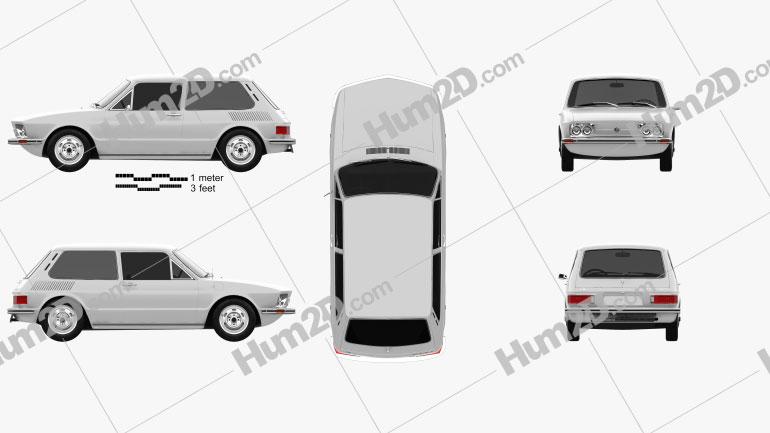 Volkswagen Brasilia 1973 car clipart