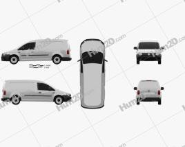 Volkswagen Caddy Maxi Kastenwagen 2015 clipart