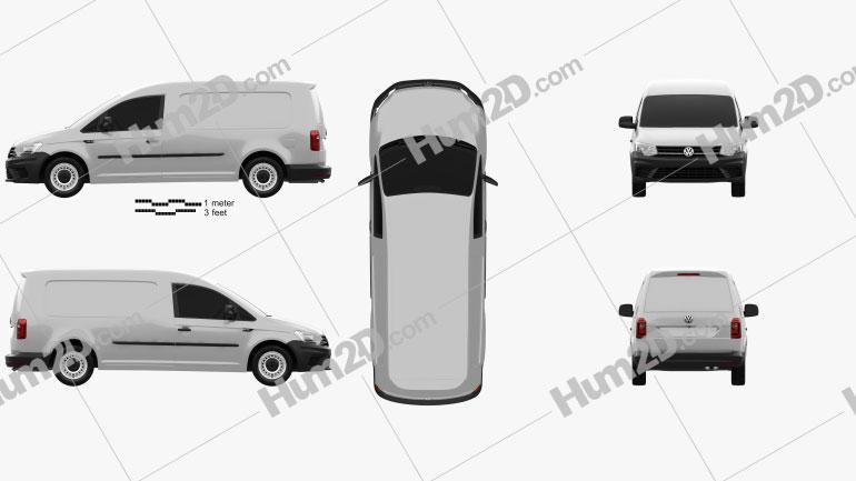 Volkswagen Caddy Maxi Panel Van 2015 clipart