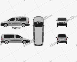 Volkswagen Caddy Maxi Trendline 2015 clipart