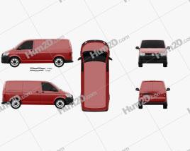 Volkswagen Transporter (T6) Panel Van 2016 clipart
