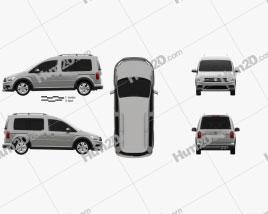 Volkswagen Caddy Alltrack 2016 Clipart