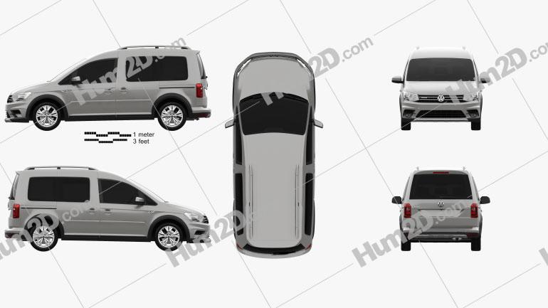Volkswagen Caddy Alltrack 2016 Clipart Image