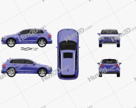 Volkswagen Tiguan GTE 2015 Clipart