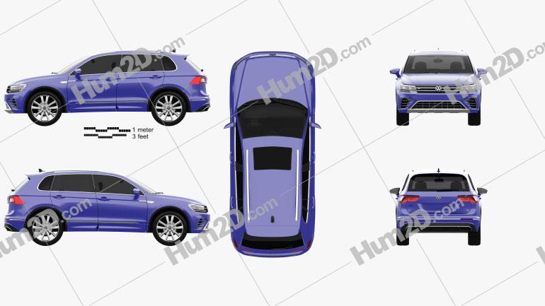 Volkswagen Tiguan GTE 2015 car clipart