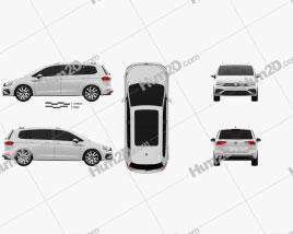 Volkswagen Touran R-Line 2015 clipart